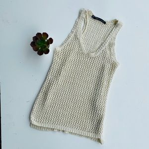 Walter Baker Cream/Gold Knit Top